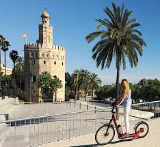 electric scooter in Seville